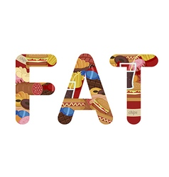 Fat lettering vector