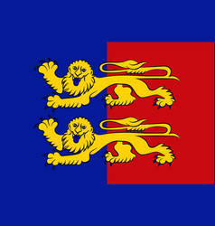 Flag of manche in normandy is a region of france vector