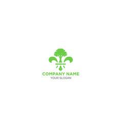 Fleur de lys tree service logo vector
