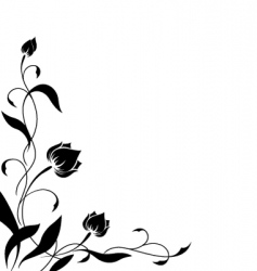 Flower border pattern vector