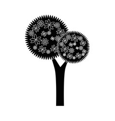 Flower tree isolated vector