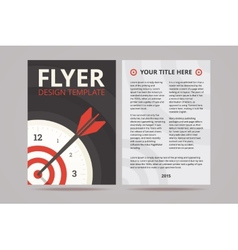 Flyer design template with time management vector image