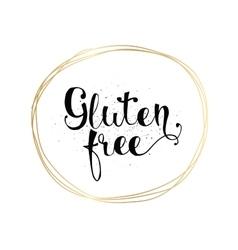 Gluten free inscription hand drawn tag or label vector