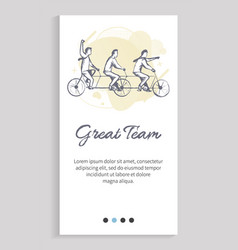great team workers spending time together web vector image