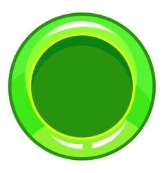 Green button icon cartoon style vector