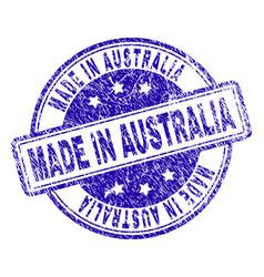 Grunge textured made in australia stamp seal vector