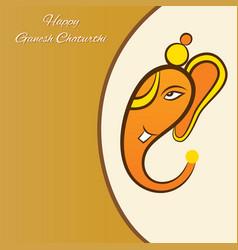 happy ganesh chaturthi festival poster design vector image