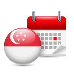 Icon of national day in singapore vector