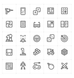 icon set - game and toy vector image