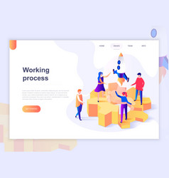 landing page template business processes vector image