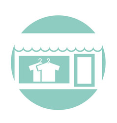 Laundry building front idolated icon vector