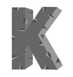 Letter in alphabet vector