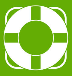 Lifeline icon green vector