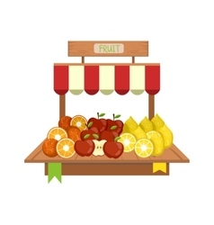 Market Fruit Display vector