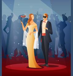 masquerade party vector image