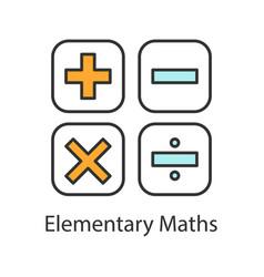 Maths symbols color icon vector