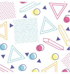 Memphis style pattern repeating geometric shape vector