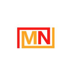 Mn logo template design vector