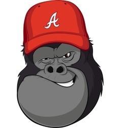 Monkey skier vector image