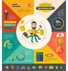 Multitasking infographic elements vector