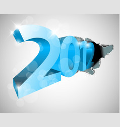 new year 2012 coming from the big hole vector image