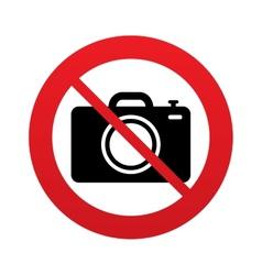 No Photo camera sign icon Photo symbol vector