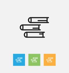 Of teach symbol on books vector