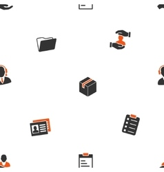 Office Files Seamless Flat Wallpaper vector