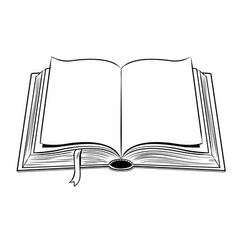 open book coloring vector image