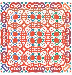 Ornamental talavera mexico tiles decor vector