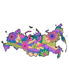 Painted map of Russia vector image