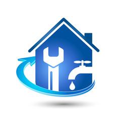 Plumbing repair business vector