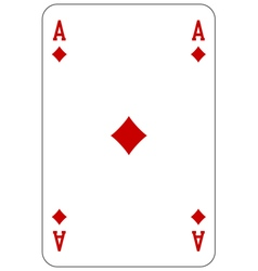 Poker playing card Ace diamond vector