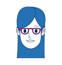 Portrait woman young female cartoon people vector