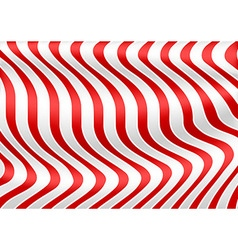 Red White Striped 3D Texture vector image