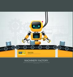 Robot machine artificial intelligence technology vector