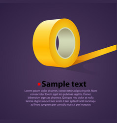 roll of clear sticky tape vector image