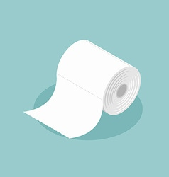 Roll of toilet paper isometrics Special paper for vector