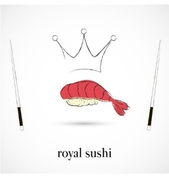 Royal sushi restaurant vector