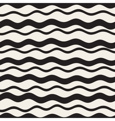 Seamless Hand Drawn Wavy Horizontal Stripes vector image