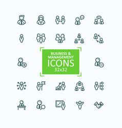 set fine line icons vector image
