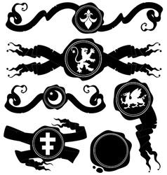 set of wax seal vector image