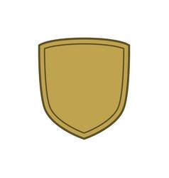 Shield flat icon emblem vector