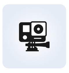 Simple action camera icon vector