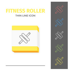 simple line stroked handle fitness roller vector image