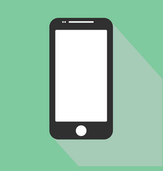 smartphone icon in iphone style cellphone vector image