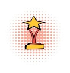 Star award comics icon vector
