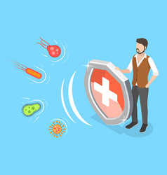 strong immune system protection against virus vector image