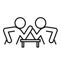 Table arm wrestling icon outline style vector