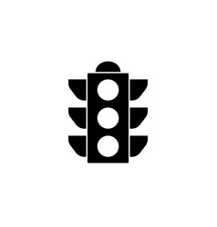 Traffic light solid icon stoplight and navigation vector